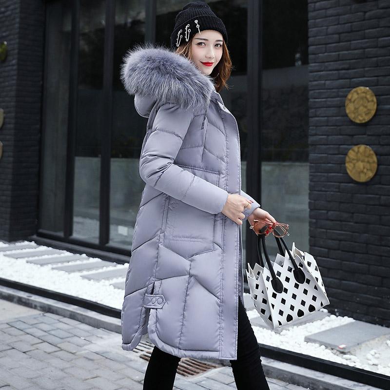反季棉衣女中长款2017新款韩版羽绒棉服加厚时尚棉袄大码外套潮图片