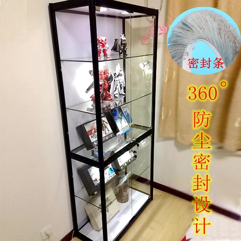 上海手办展示柜 玻璃精品货架礼品柜家用密封陈列柜动漫模型展柜