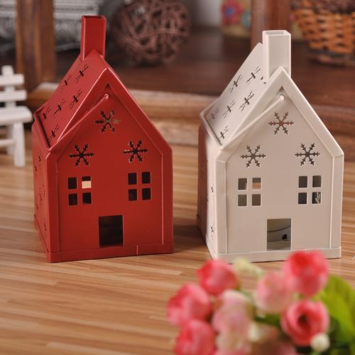 铁艺复古镂空烛台欧式家居酒吧装饰风灯温馨小房子杯