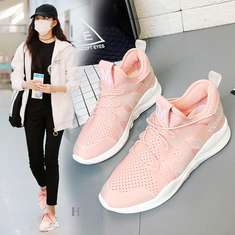 女鞋跑步学生运动鞋女韩版原宿夏季网鞋女休闲透气