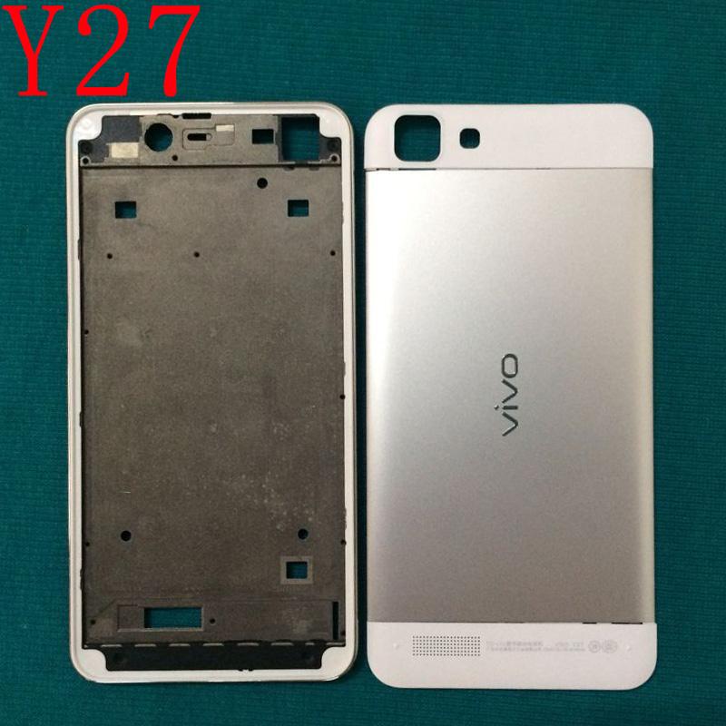 适用vivo y27 手机外壳 前壳银边框电池后盖上下盖卡托按键