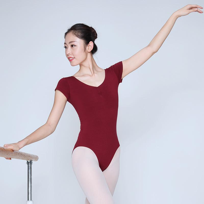 体操服 成人芭蕾舞服 连体服 形体服 鸡翼袖半体服 练功服5008