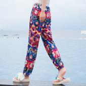 显瘦高腰泰国灯笼裤 海边必备民族风长裤 波西米亚沙滩裤 2017夏女装