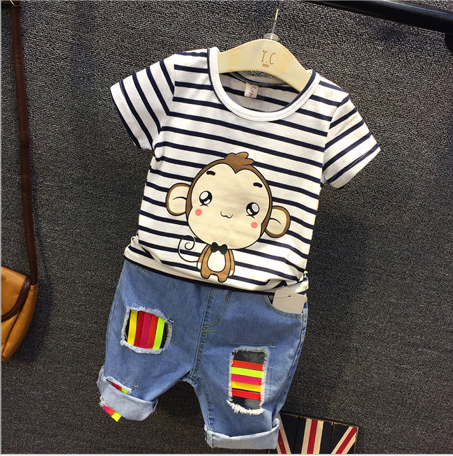 夏季寶寶夏裝上衣男童打底童裝半袖女童 短袖兒童