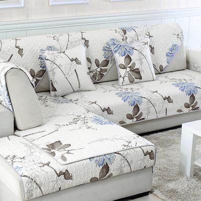 全棉沙发垫布艺四季通用欧式防滑简约现代坐垫组合沙发套巾罩全包
