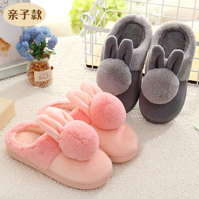 儿童棉拖鞋秋冬季男女童宝宝防滑卡通小孩可爱毛毛鞋亲子居家拖鞋