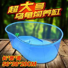 乌龟缸小养龟盆特大号带晒台鱼缸开放式乌龟塑料乌龟活体饲养盒箱