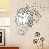 钟表现代简约卧室静音石英钟个性挂表客厅大时尚创意挂钟欧式时钟