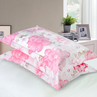 【一对装】纯棉双人枕头套 48x74cm 全棉枕套学生枕芯套简约印花