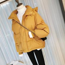 2017冬季女装韩版小可爱短款连帽棉衣女加厚羽绒棉纯色面包服外套