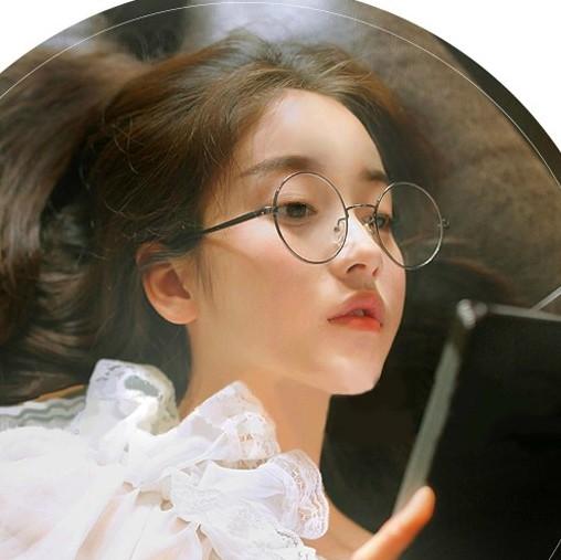 复古平光镜圆形眼镜架男女士韩版潮流校园学生无度数近视全框眼镜