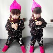 童装女童加绒棉衣套装冬装儿童卫衣两件套秋冬季女宝宝衣服1234岁