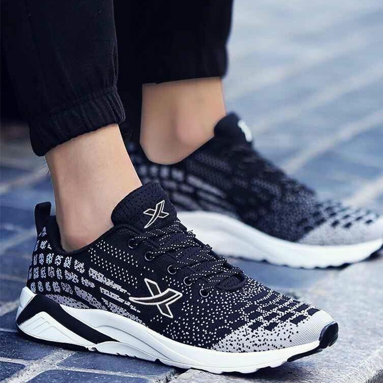 跑步鞋子減震透氣運動鞋男士夏季品牌休閑旅游鞋板鞋韓版網面