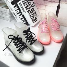 套鞋 女雨靴 防滑低帮水靴学生透明水鞋 女短筒夏季成人胶鞋 韩国雨鞋