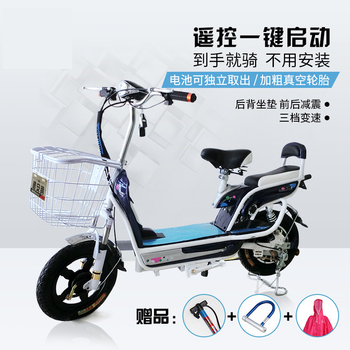 飞鸽科技电动车48v 男女式锂电动自行车助力电瓶车小型电动车包邮