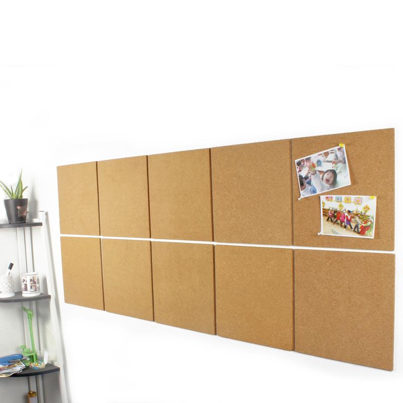 带胶软木板 照片墙 背景墙 软木贴 图钉板 照片板 公告栏 水松板