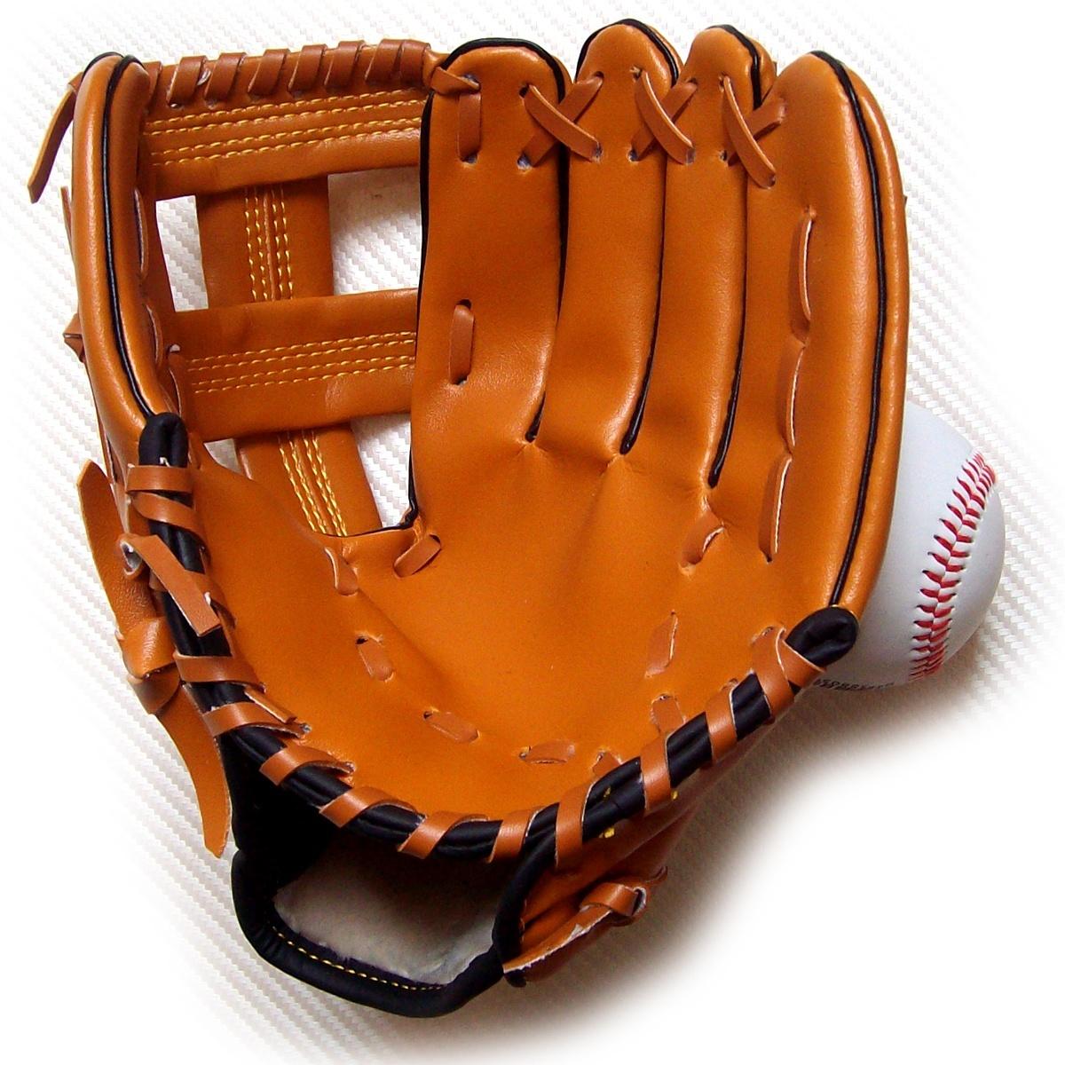 **/少年/儿童全款棒球手套 棕色外野手套投手手套加厚型 送棒球