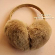 獭兔毛耳套皮草护耳可爱耳捂冬季男女耳罩冬保暖防寒 4折瑕疵特