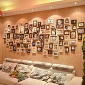 照片墙装饰夹子 悬挂 无痕钉相框墙简约现代相片墙相框挂墙组合