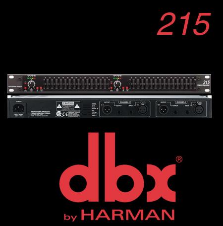 美国dbx 215 双15段均衡器 双段均衡器 升级版 音频处理器