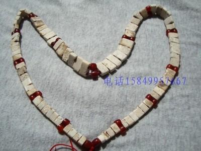 红山小河沿文化双孔蛋白玉玉板项链距今5500年前古老珠玉琉璃陶器