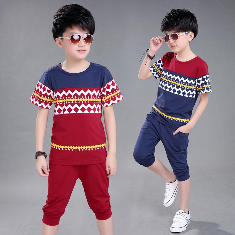 小学大码儿童装15女生夏装12套装13岁品牌10腿男童男孩视频的图片
