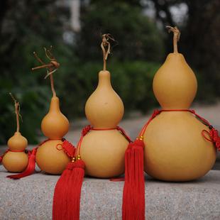 天然葫芦摆件中国结挂件小葫芦风水招财纳福镇宅辟邪家居大工艺品
