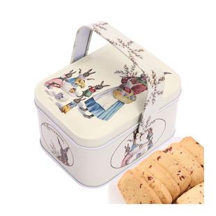 【天猫超市】TC蔓越莓曲奇饼干手提兔子铁礼盒手工休闲零食品80g