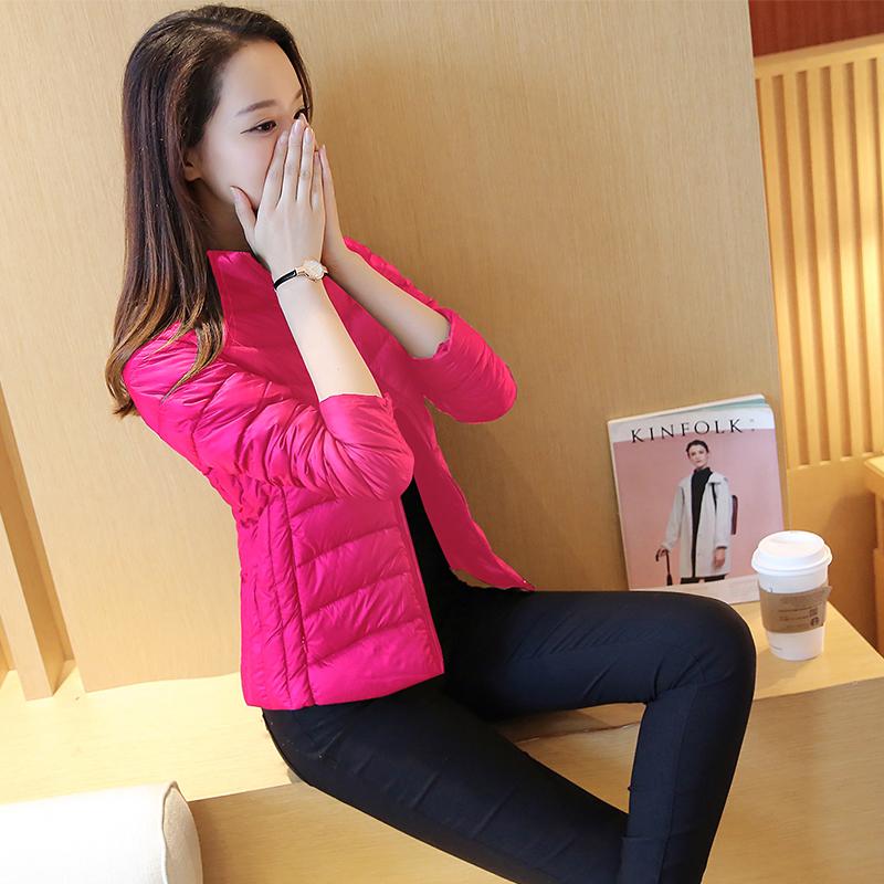 清仓反季2016新款冬装特价女装立领轻薄羽绒服女短款外套大码修身