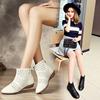 17春夏新品真皮单靴全皮镂空踝靴短靴低跟平底女单鞋小白鞋短筒靴