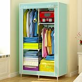 宅秀简易衣柜小号折叠布艺组装布衣柜单人钢管加粗加固宿舍布衣橱