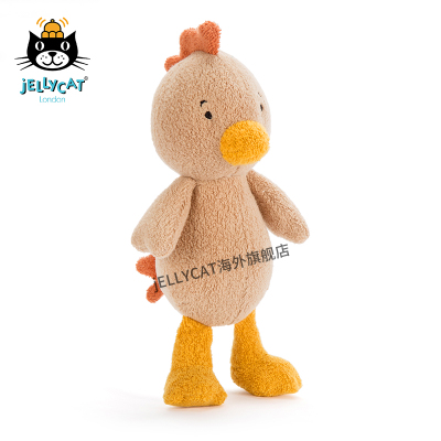 2017新品英国jellycat Rumpus小鸡年吉祥物毛绒玩具大公鸡公仔