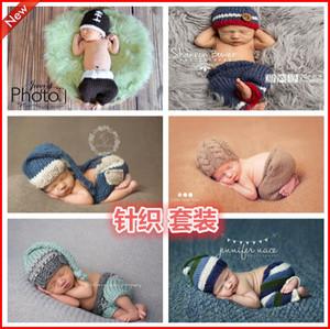儿童摄影服装新款婴儿百天宝宝百日照影楼照相道具手工编织套装