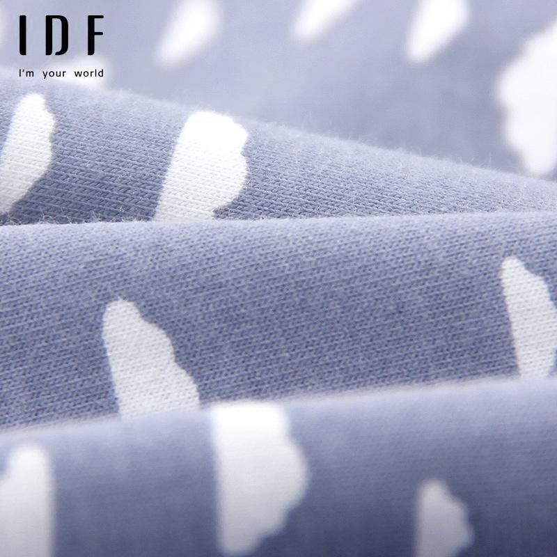 IDF2017新品内裤女纯棉裆全棉中腰舒适可爱无痕蕾丝女生三角裤头