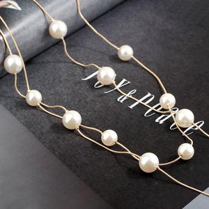 日韩时尚珍珠毛衣链