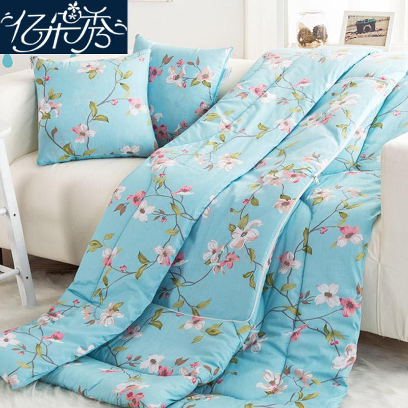 空调纯棉靠垫沙发被子汽车办公午睡两用枕头
