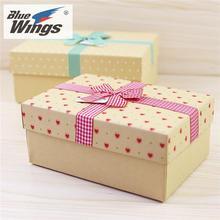 女人节高档礼物盒牛皮纸长方形正方形包装盒复古礼盒围巾盒子