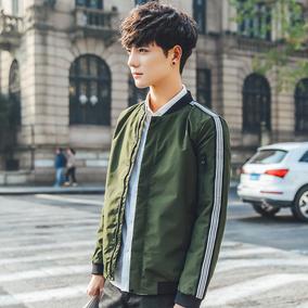夹克男装2017春季新款韩版外套男士青少年修身学生运动潮流棒球服
