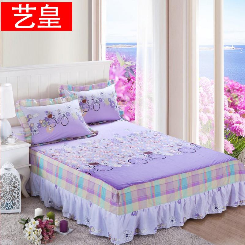 艺皇全棉床裙单件 纯棉床盖床罩床垫保护套床笠床套1.5/1.8m米床