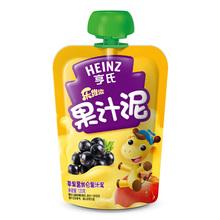 【天猫超市】Heinz/亨氏果泥乐维滋苹果黑加仑果汁泥120g宝宝零食