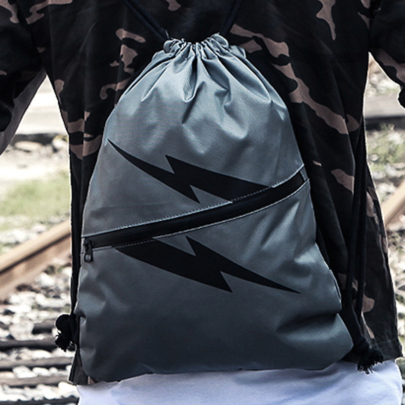 抽绳背包束口袋折叠旅行布包男账动死飞包男女学生书包束口双肩包