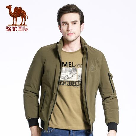 骆驼男装 冬季商务休闲立领90%白鸭绒羽绒服加厚保暖短款外套男潮商品大图