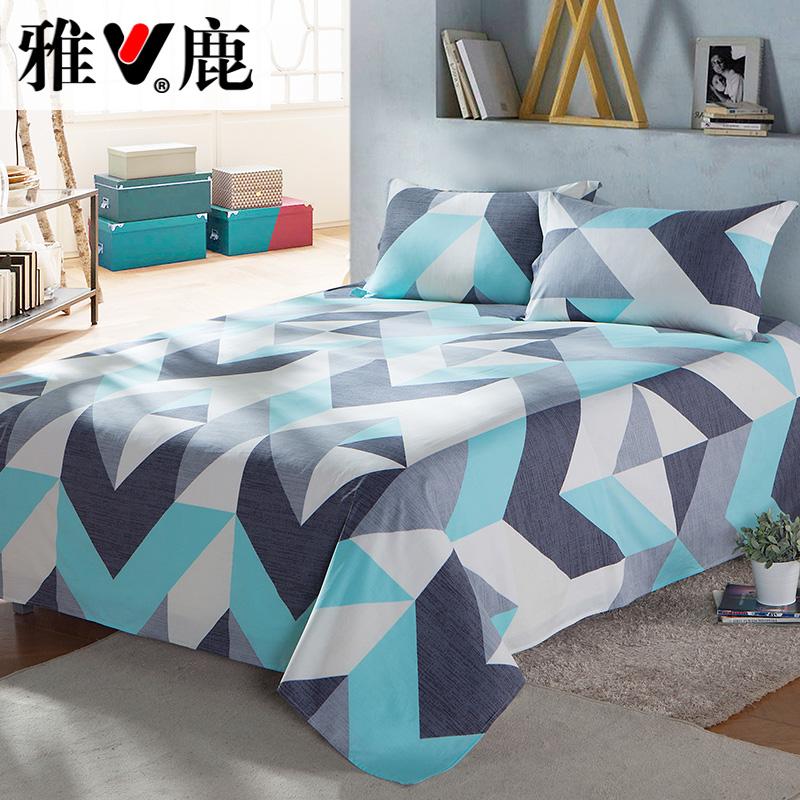 床单学生宿舍 雅鹿家纺单件全棉纯棉双人被单床单