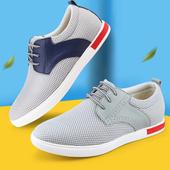 男式8cm运动网鞋 隐形内增高男鞋 透气板鞋 6cm夏季网面鞋 远高增高鞋
