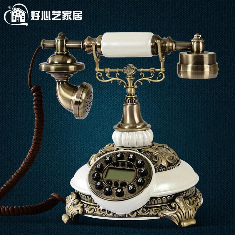 好心艺 复古电话机摆件装饰有线坐机生活电器家用 个性创意礼物