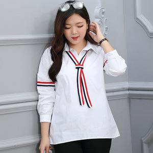 2016秋季新款学生白色衬衫品牌大码女装加大加肥200斤胖mm可穿