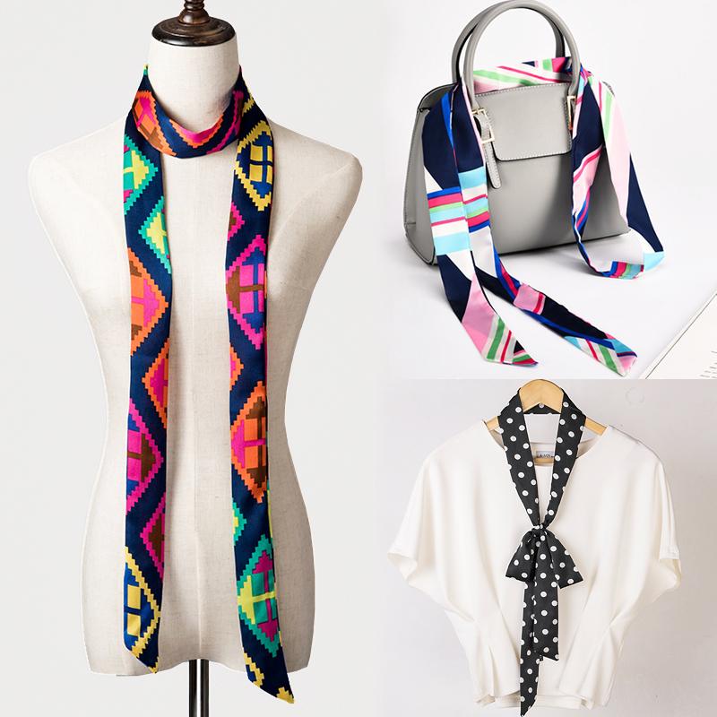 领巾丝带头巾夏季包包韩国长条春秋飘带腰带手柄丝巾
