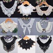 蕾丝钉珠水钻珍珠百搭毛领女士衬衫 包邮 饰假领子韩版 假衣领花边装