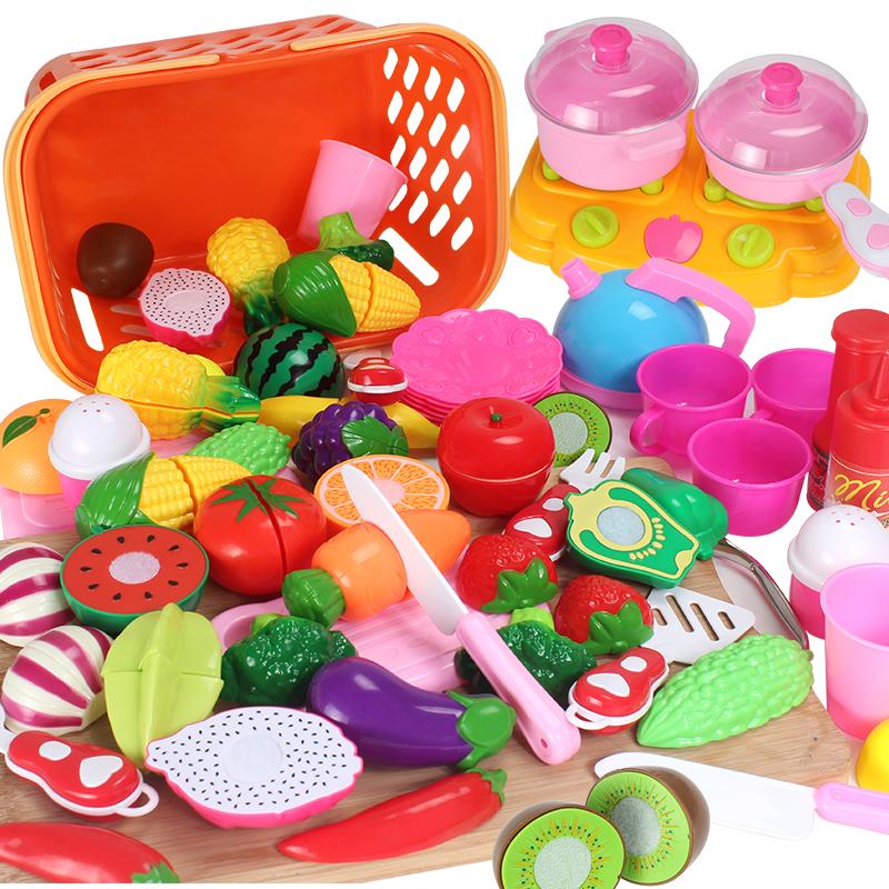 切水果玩具儿童水果蔬菜蛋糕切切乐切切看过家家厨房玩具1 3 6岁