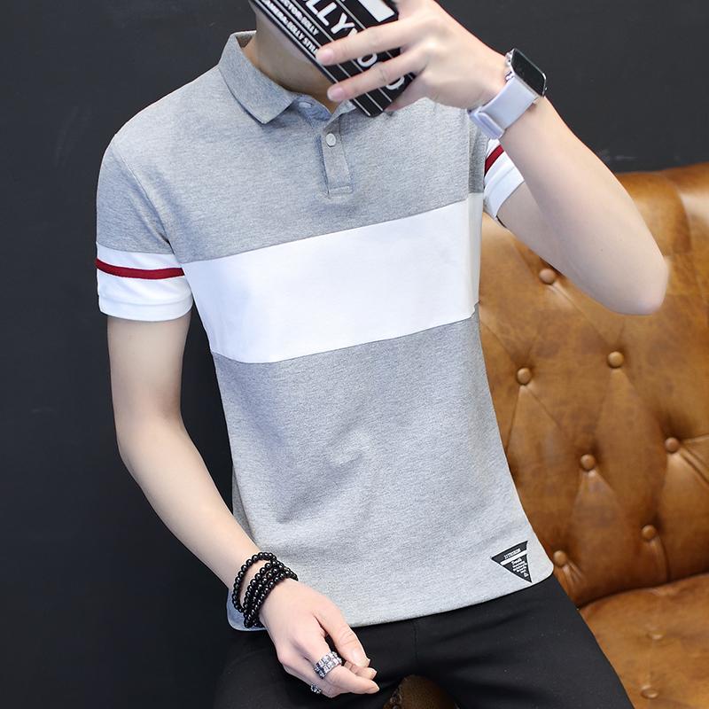衬衫商务青年保罗短袖男士衫丅恤夏季修身体恤